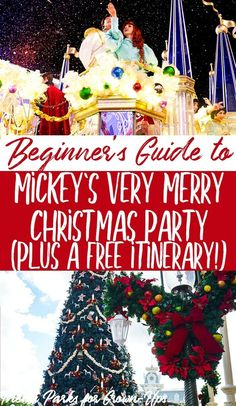 Countdown to Christmas! Mickey's Very Merry Christmas Party at Disney World is the best time of year to visit! But you need a good plan and itinerary to have a glorious time! Get all the tips and tricks you need. Plus a free planning itinerary!