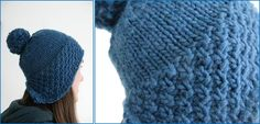 Make this stylish Lomond knitted hat. This stylish Lomond knitted hat is topped with a pompom for added flair. FREE pattern here …