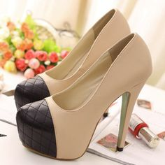 Womens Fashion Sandals High Heels Platforms Shoes Block Colors Black  Apricot 1mh 8feafb19b7419