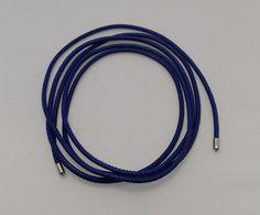 """Endless Necklace Bracelet 47"""" 120cm Long Blue Leather 13104 #Endless"""