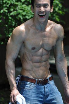 All Asian Guys for all girls & boys. Hot Asian Men, Asian Guys, Muscular Men, Professional Photography, Male Body, Gorgeous Men, Distressed Denim, Hot Guys