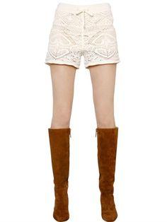 #crochet cotton shorts by Emilio Pucci