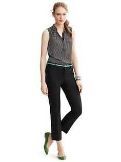 Black pants printed top