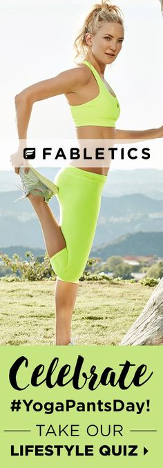 FABLETICS BY KATE HUDSON Exclusive VIP Offer - Get Your First Outfit for $15! Limited Time Only. Discover Fabletics by Kate Hudson Workout Outfits for 2016 that are Curated for Your Lifestyle by taking our Lifestyle Quiz to take advantage of this offer!