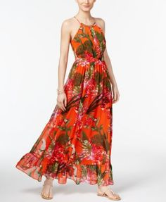 INC International Concepts Petite Maxi Dress $90 in 6P high back