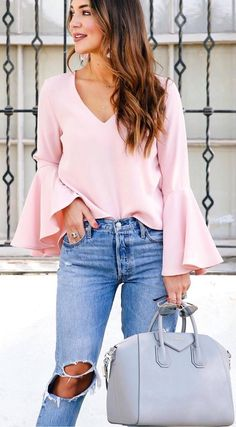 2a5740b0db2 Fashion Trends Blouse Plus Bag Plus Rips - Love Outfits