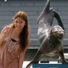 Human and Sea Lion - PEACE