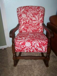 Vintage Upholstered Rocking Chair this might work, different fabric... http://diannecraig.origamiowl.com/default.aspx
