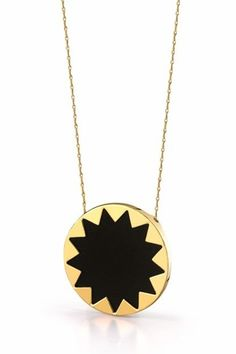 house of harlow 1960 black leather starburst necklace