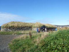Reconstructed Viking longhouse on Unst, Shetland