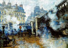 Claude Monet - Le Pont de l'Europe Gare Saint-Lazare, 1877