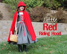 "Little Red Riding Hood costume tutorial... ""I don't want to be Little Red Riding Hood, but I doOoo."""