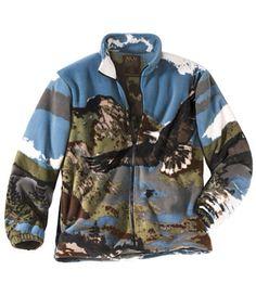 La veste polaire à motifs col montant zipée