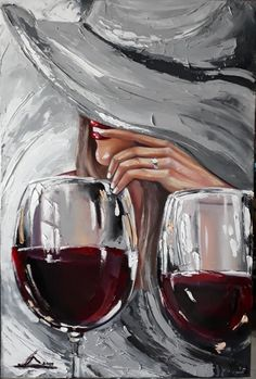 Original Women Painting by Olga Yroslavskay Oil Painting Abstract, Woman Painting, Modern Oil Painting, Acrylic Paintings, Abstract Art, Palette Knife Painting, Wine Art, Art Abstrait, Aesthetic Art