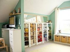quilt room ideas | quilt room ideas / PatchworkPottery: A Can of Inspiration