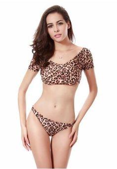 Leopard 2017 Beach Women Push Up Monokini Print Floral Bikini Top Suit Low Waist Swimwear Plus Size Triangle Bandage Biquini Halter Bikini, Bikini Swimwear, Bikinis, Bikini Top, Bikini 2018, Sexy Bikini, Sporty Bikini, Leopard Print Bikini, Floral Bikini
