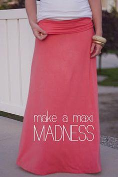 make a maxi skirt