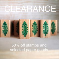 Cleaning out my closets: 50% off stamps and selected items while stock lasts..  #siebenmorgen #etsy #etsysale #shopsmall