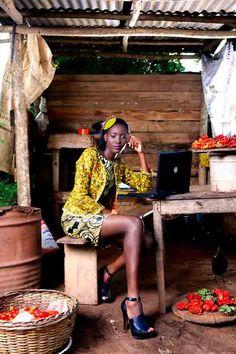 African Supermodel Bunmiade Mokoya