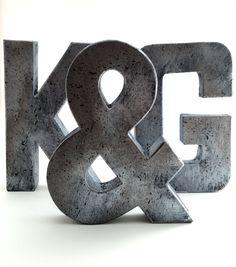Hammered Metal Letters Faux Metal Letters  Copper  Hammered Copper  Antique  Vintage