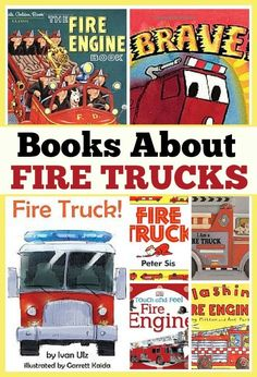 Little ones love to read about fire trucks. Here are some of our favorite books about fire trucks for toddlers, preschoolers and young readers. #kidlit