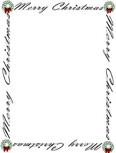 printable christmas borders for paper | Christmas Collection - Gift Ideas, Traditions, Recipes, Photo Ideas ...
