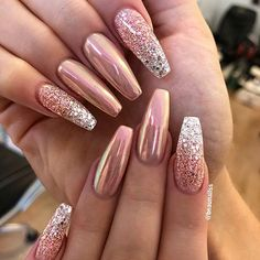 Simple Nail Art Designs That You Can Do Yourself – Your Beautiful Nails Classy Nails, Stylish Nails, Trendy Nails, Pink Nails, My Nails, Gel Ombre Nails, Fancy Nails, Ambre Nails, Crome Nails