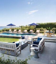 The Modern Hamptons. Home of architect Frank Greenwald. AD magazine.
