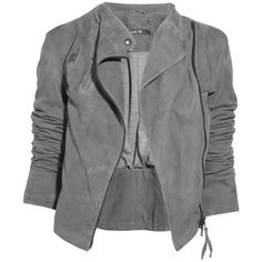 Lot78 Ziggy suede biker jacket ❤ liked on Polyvore