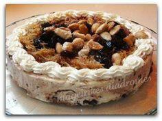 Γλυκές ιστορίες: Τούρτα παγωτό με Βύσσινο by Dafni! Granite, Tiramisu, Ethnic Recipes, Desserts, Food, Tailgate Desserts, Deserts, Granite Counters, Essen