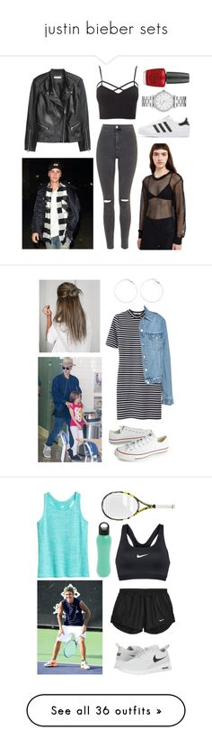 """""""justin bieber sets"""" by damlakaplan ❤ liked on Polyvore featuring Norma Kamali, Topshop, H&M, Charlotte Russe, adidas Originals, Marc by Marc Jacobs, OPI, plus size clothing, Justin Bieber and T By Alexander Wang"""