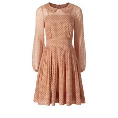 Orla Kiely// I die. Silk georgette long sleeve dress. The skirt has small pleats all the way around and gathers gently at the bust.