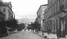 Athens Ermou Str to Syntagma Old Photos, Vintage Photos, Old Greek, Greek Culture, In Ancient Times, Athens Greece, The Past, Street View, Island