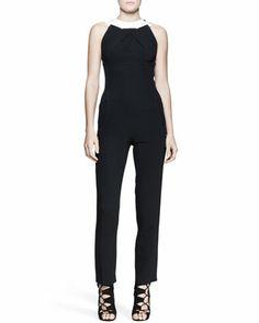 Tabit Banded-Back Jumpsuit by Roland Mouret at Bergdorf Goodman.