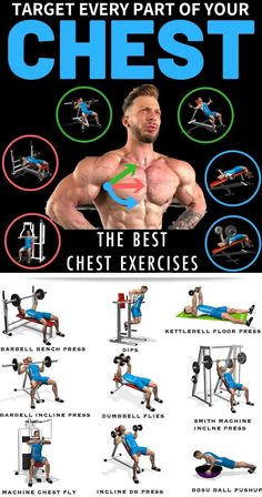 Exercises that define and sculpt your chest help you look your best at the beach or the gym. They can also help you do a variety of daily tasks, like lifting or pushing objects. Working out the chest means working out the pectoral muscles, better known as Chest Workout For Men, Chest Workout Routine, Gym Workout Tips, Weight Training Workouts, Ab Workout At Home, Chest Workouts, Gym Workout Chart, Fitness Workouts, Fun Workouts
