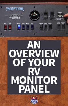 An RV Monitor Panel is the information center for most of the systems in your RV. It is generally located in an easy to read location such as the kitchen or hallway. Older models provide limited information on holding tank, freshwater tank, LP power and battery power levels. An older RV monitor panel may have a single switch for the water pump and there may be some other switches for the water pump in the bathroom or outside. There is also a water heater on and off switch at the panel.
