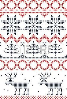 Scandinavian Christmas cross stitch Could be a knitting pattern Xmas Cross Stitch, Cross Stitch Charts, Cross Stitch Designs, Cross Stitching, Cross Stitch Embroidery, Cross Stitch Patterns, Cross Stitch Stocking, Knitting Charts, Knitting Stitches