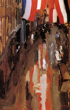 The Athenaeum - Kalverstraat with Flags (George Hendrik Breitner - ) Dutch Painters, Oil Painters, A4 Poster, Poster Prints, Dutch Artists, This Is Us Quotes, Vintage Artwork, Artist Art, Rotterdam