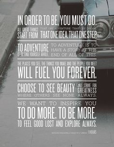 Wanderlust...such great words to live by!