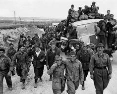 German and Italian prisoners of war captured in Tunisia.