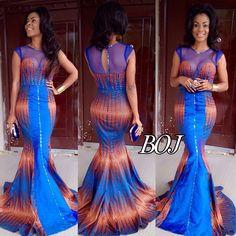 Ankara Mermaid Dress by Africandressshop on Etsy African Inspired Fashion, African Print Fashion, Africa Fashion, African Fashion Dresses, Fashion Prints, African Outfits, African Prints, African Clothes, Ankara Fashion