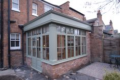 This Hardwood Orangery made a great extension to the house by adding a new dining area to new kitchen design
