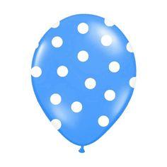 6 Ballons gonflables turquoise à pois blanc , très haute qualité Hélium, une ambiance colorée pour vos décorations de salles. Ces ballons turquoises apporteront du peps à vos ambiance.