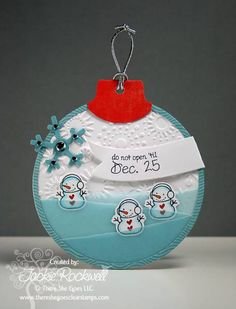 Snowman Christmas Tag by westie2 - Cards and Paper Crafts at Splitcoaststampers