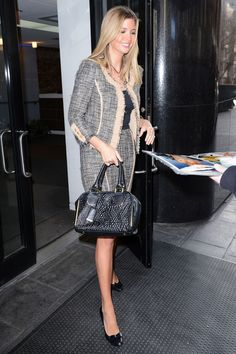 Entrepreneur and fashion designer Ivanka Trump in a tweed skirt suit, 2012. Getty Images  - ELLE.com