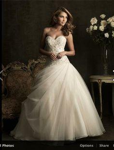 Sweetheart princess wedding dress