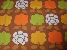 Vintage Stoffe - 70er Jahre Stoff Bäume Dekoplus 68x50 cm - ein Designerstück von BORKIS-Stoffe-und-Vintage bei DaWanda