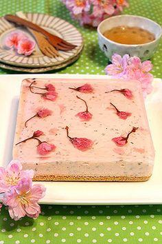 Cherry blossom cheesecake (no recipe)