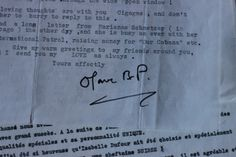 One of many letters from Olave Baden-Powell in the archives #WAGGGS #History #OurChalet