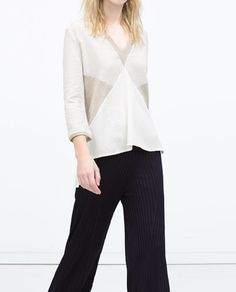 COLOR BLOCK BLOUSE-Tops-WOMAN | ZARA United States